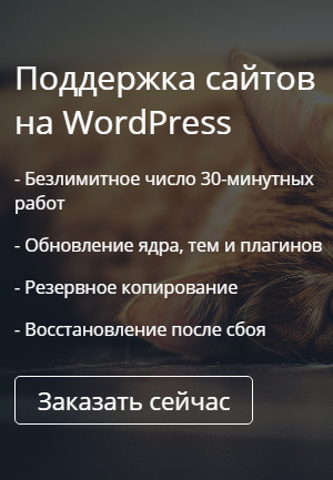 Поддержка сайтов на WordPress